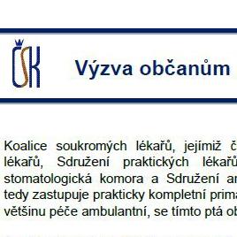 Výzva ČSK občanům před volbami